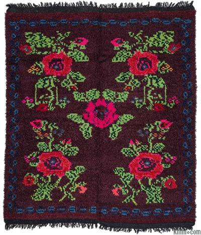 "Vintage Turkish Tulu Rug - 5'3"" x 6'3"" (63 in. x 75 in.)"