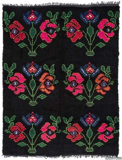 "Vintage Turkish Tulu Rug - 5'1"" x 6'7"" (61 in. x 79 in.)"