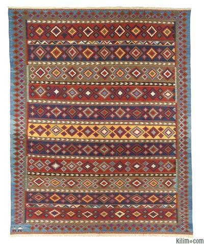 "New Handwoven Turkish Kilim Rug - 11' 11"" x 15' 1"" (143 in. x 181 in.)"