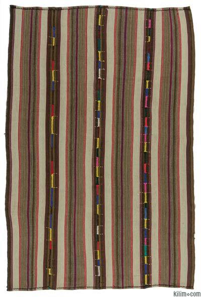 "Vintage Turkish Kilim Rug - 5' 3"" x 8' 2"" (63 in. x 98 in.)"