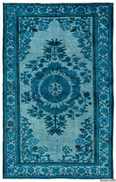 "Hand Carved Over-Dyed Turkish Vintage Rug - 6'  x 9' 5"" (72 in. x 113 in.)"