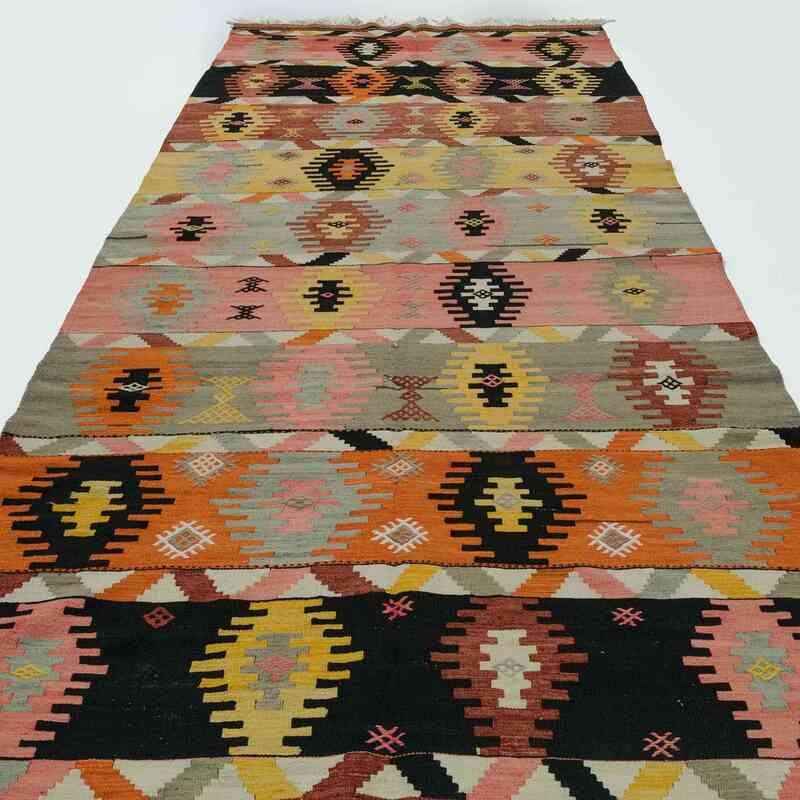 """Multicolor Vintage Sivas Kilim Rug - 4' 9"""" x 11' 5"""" (57 in. x 137 in.) - K0016001"""