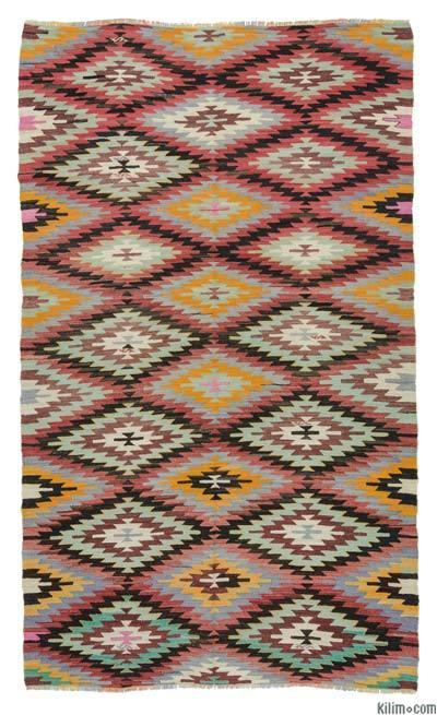 Alfombra Vintage Afyon Kilim - 162 cm x 273 cm