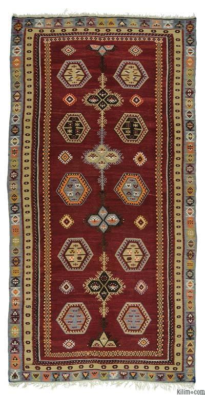 "Vintage Sarkisla Kilim Rug - 6'  x 11' 8"" (72 in. x 140 in.)"