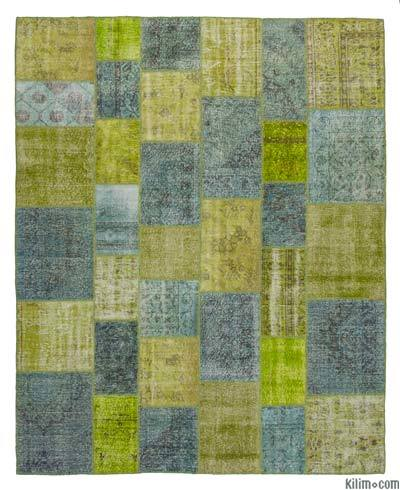 "Over-dyed Turkish Patchwork Rug - 8'  x 9' 10"" (96 in. x 118 in.)"