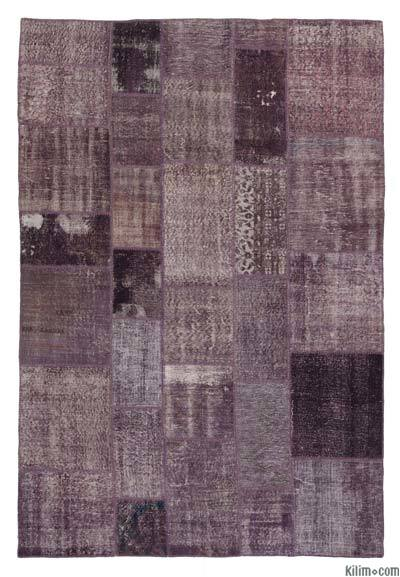 "Over-dyed Turkish Patchwork Rug - 7'1"" x 9'10"" (85 in. x 118 in.)"