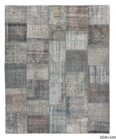 "Over-dyed Turkish Patchwork Rug - 8'2"" x 10' (98 in. x 120 in.)"