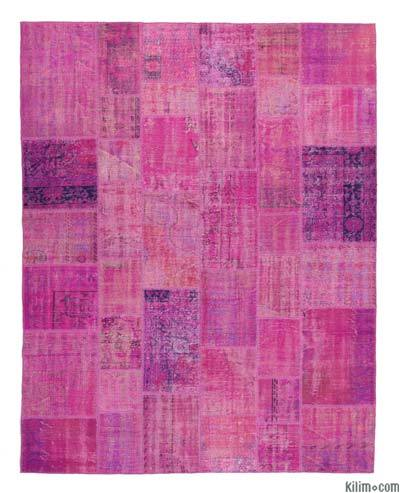 "Over-dyed Turkish Patchwork Rug - 8'  x 10' 2"" (96 in. x 122 in.)"