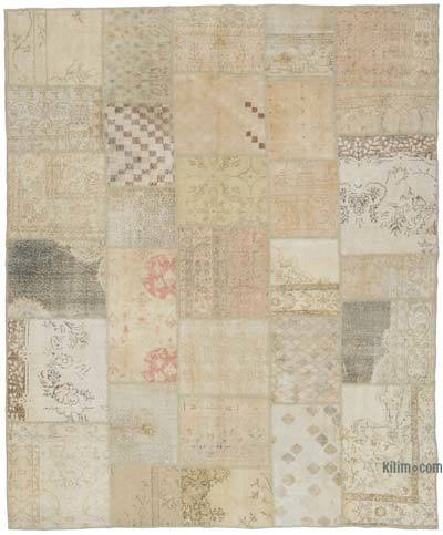 """Over-dyed Turkish Patchwork Rug - 8'3"""" x 9'11"""" (99 in. x 119 in.)"""