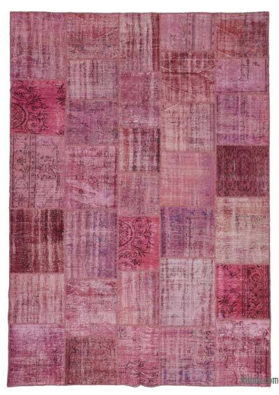 """Over-dyed Turkish Patchwork Rug - 8'2"""" x 11'7"""" (98 in. x 139 in.)"""