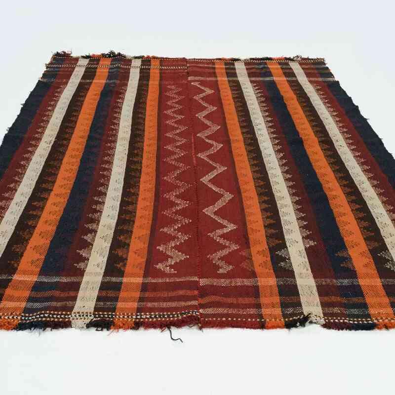 "Vintage Qashgai Flatweave - 4' 7"" x 7' 5"" (55 in. x 89 in.) - K0016158"