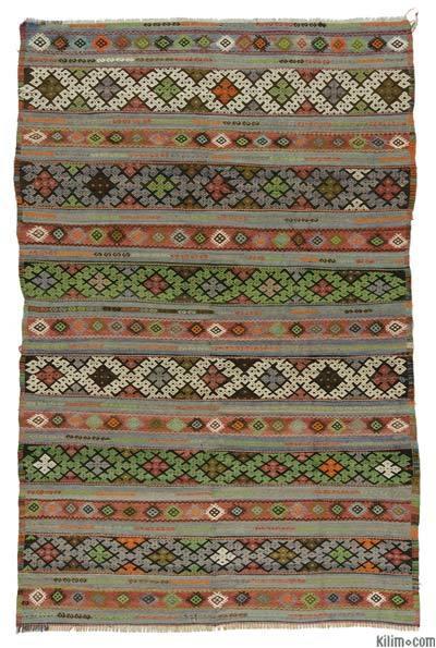 """Vintage Balikesir Kilim Rug - 5' 4"""" x 8' 2"""" (64 in. x 98 in.)"""