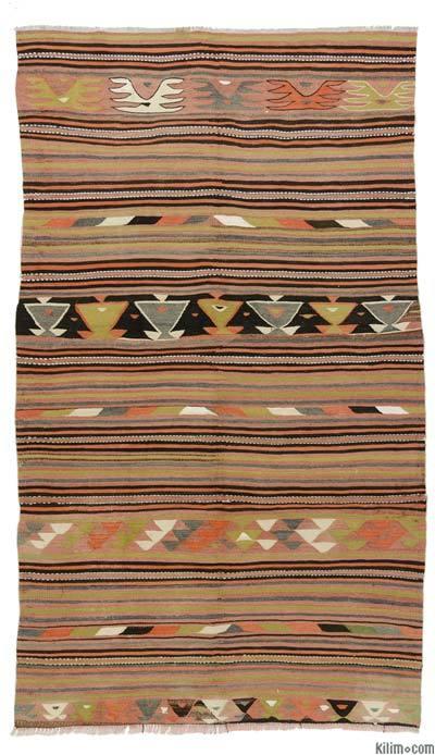 """Vintage Konya Kilim Rug - 4'11"""" x 8'6"""" (59 in. x 102 in.)"""