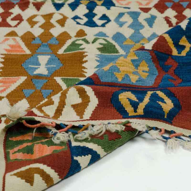 """Multicolor New Kayseri Kilim Rug - 6' 4"""" x 8' 2"""" (76 in. x 98 in.) - K0016284"""