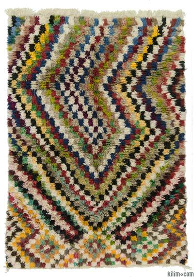 "Multicolor New Turkish Tulu Rug - 6'  x 7' 11"" (72 in. x 95 in.)"