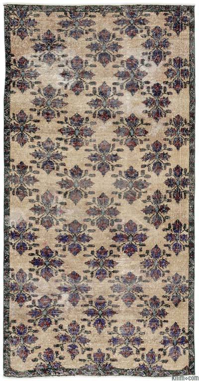 """Turkish Vintage Area Rug - 4' x 7'10"""" (48 in. x 94 in.)"""