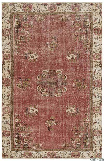 "Turkish Vintage Area Rug - 5'8"" x 8'9"" (68 in. x 105 in.)"