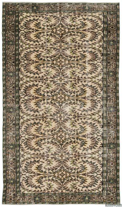 """Turkish Vintage Area Rug - 4'6"""" x 7'9"""" (54 in. x 93 in.)"""