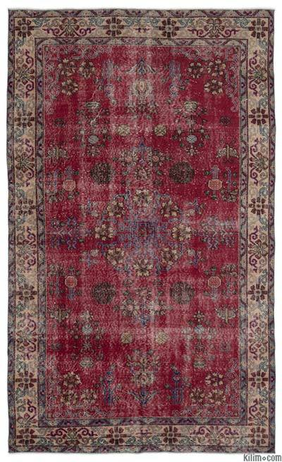 """Turkish Vintage Area Rug - 6' x 9'10"""" (72 in. x 118 in.)"""