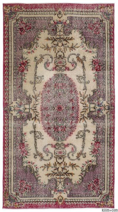 "Turkish Vintage Area Rug - 3' 10"" x 7' 1"" (46 in. x 85 in.)"