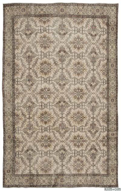 "Turkish Vintage Area Rug - 6'5"" x 10'1"" (77 in. x 121 in.)"