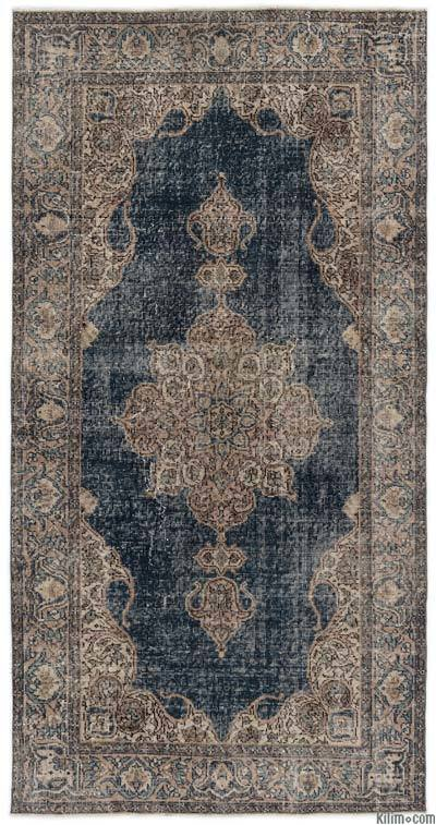 """Turkish Vintage Area Rug - 3'7"""" x 7'1"""" (43 in. x 85 in.)"""