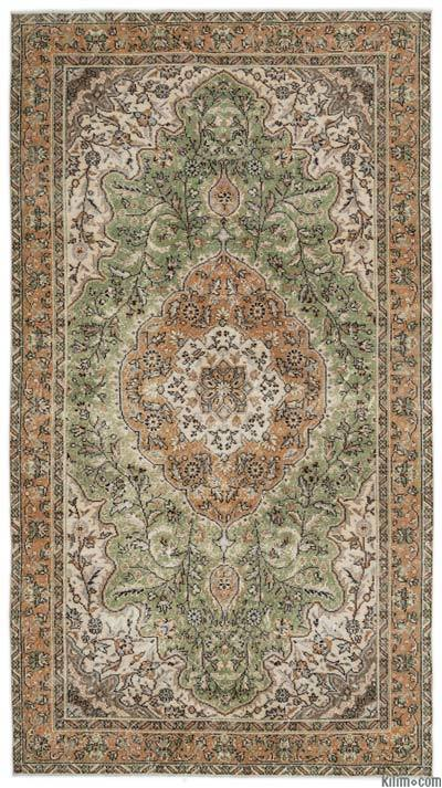"""Turkish Vintage Area Rug - 5'2"""" x 9'4"""" (62 in. x 112 in.)"""