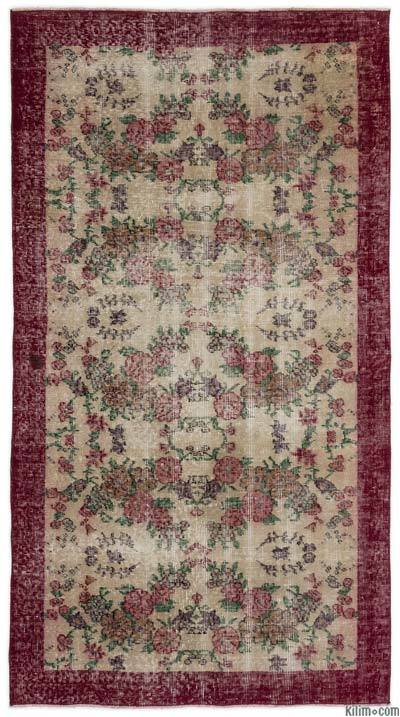"Turkish Vintage Area Rug - 3' 7"" x 6' 6"" (43 in. x 78 in.)"