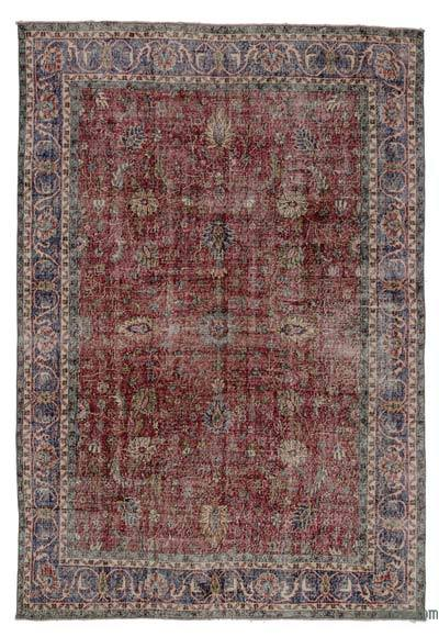 """Turkish Vintage Area Rug - 6' 8"""" x 9' 11"""" (80 in. x 119 in.)"""