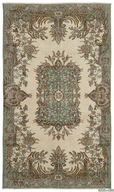 """Turkish Vintage Area Rug - 3'10"""" x 6'8"""" (46 in. x 80 in.)"""
