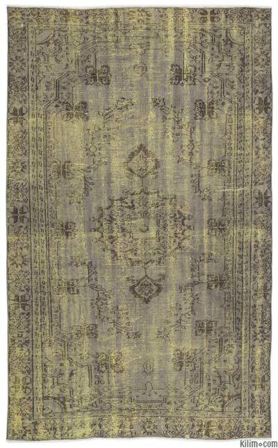 """Over-dyed Turkish Vintage Rug - 5'8"""" x 9'3"""" (68 in. x 111 in.)"""