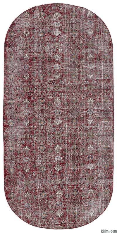 """Turkish Vintage Area Rug - 3'10"""" x 7'10"""" (46 in. x 94 in.)"""