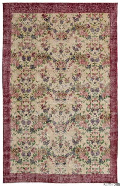 "Turkish Vintage Area Rug - 6'7"" x 10'4"" (79 in. x 124 in.)"