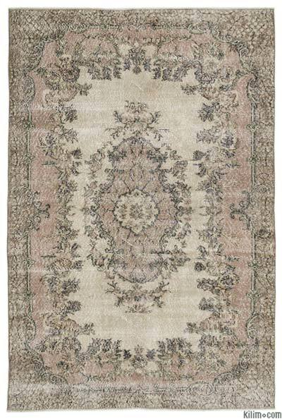 "Turkish Vintage Area Rug - 6'8"" x 10'1"" (80 in. x 121 in.)"