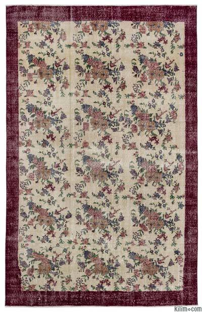 """Turkish Vintage Area Rug - 6'8"""" x 10'7"""" (80 in. x 127 in.)"""