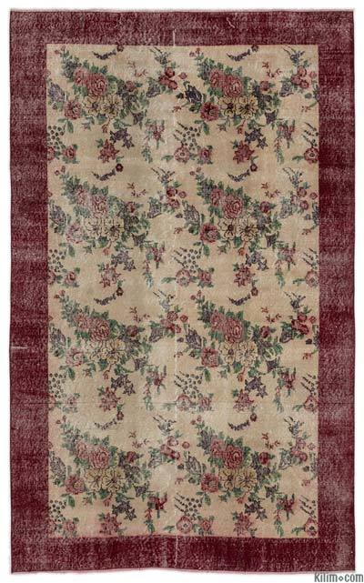 """Turkish Vintage Area Rug - 5'1"""" x 8'2"""" (61 in. x 98 in.)"""
