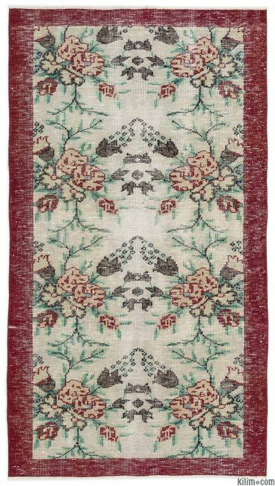 "Turkish Vintage Area Rug - 3'6"" x 6'4"" (42 in. x 76 in.)"