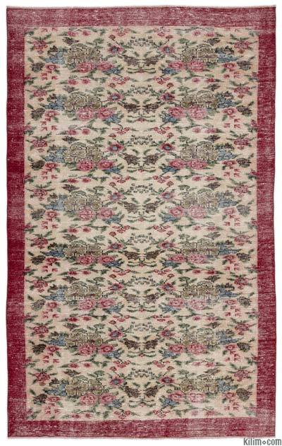 """Turkish Vintage Area Rug - 5'7"""" x 8'11"""" (67 in. x 107 in.)"""