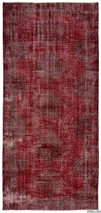"Over-dyed Turkish Vintage Rug - 5'4"" x 11'8"" (64 in. x 140 in.)"