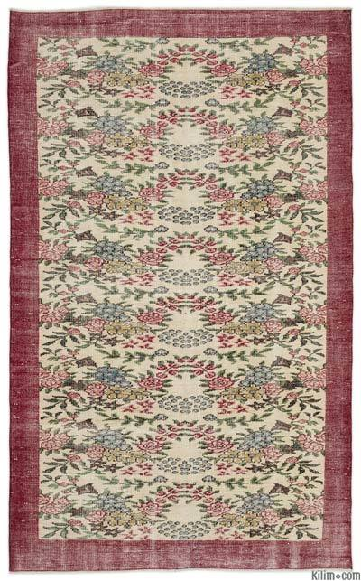 """Turkish Vintage Area Rug - 5'5"""" x 8'11"""" (65 in. x 107 in.)"""