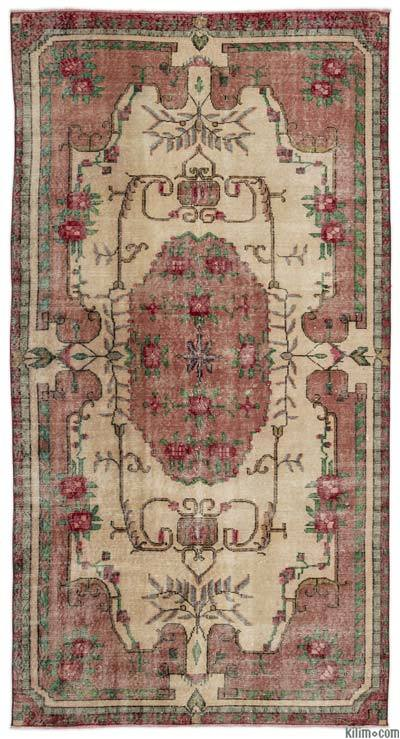 "Turkish Vintage Area Rug - 5' x 9'4"" (60 in. x 112 in.)"