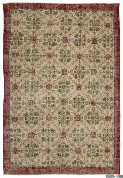 "Turkish Vintage Area Rug - 7'1"" x 10'4"" (85 in. x 124 in.)"