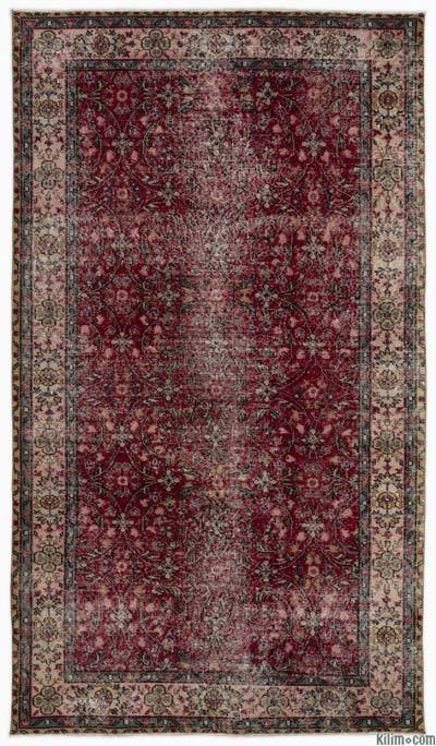 """Turkish Vintage Area Rug - 4'11"""" x 8'8"""" (59 in. x 104 in.)"""