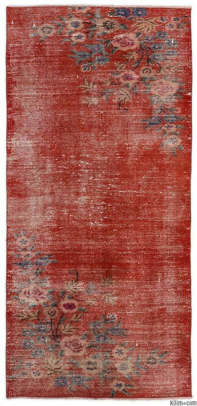"Turkish Vintage Area Rug - 3' 1"" x 6' 4"" (37 in. x 76 in.)"