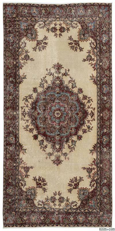 "Turkish Vintage Area Rug - 3'9"" x 7'8"" (45 in. x 92 in.)"