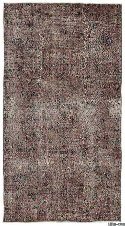 El Dokuma Vintage Halı - 115 cm x 208 cm