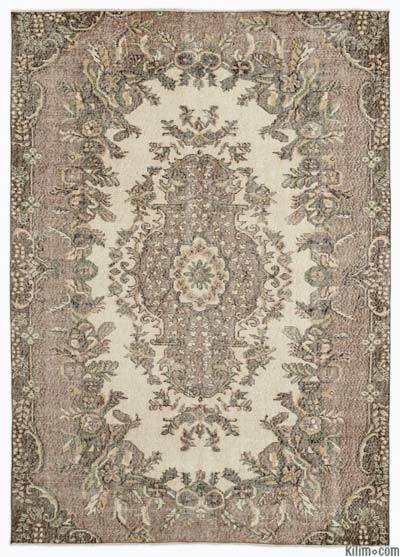 """Turkish Vintage Area Rug - 5'10"""" x 8' (70 in. x 96 in.)"""