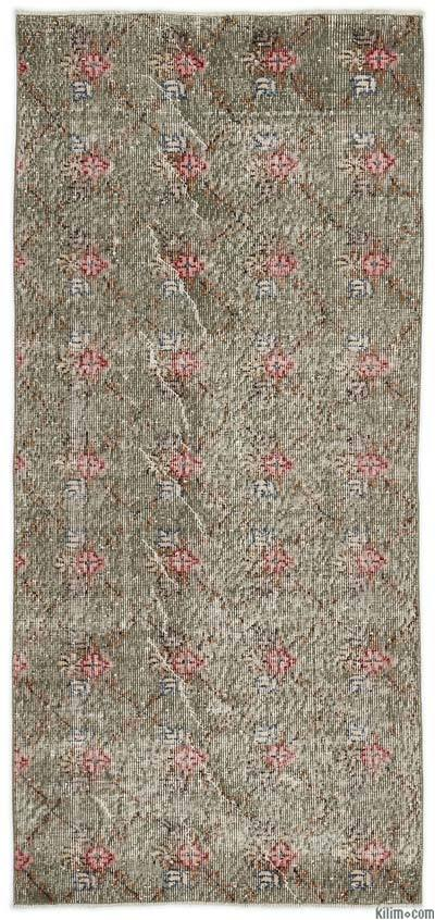"Turkish Vintage Area Rug - 2'11"" x 6'3"" (35 in. x 75 in.)"
