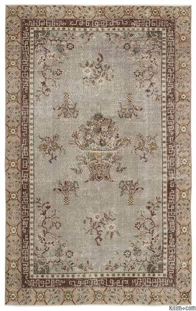 "Turkish Vintage Area Rug - 6'8"" x 10'8"" (80 in. x 128 in.)"