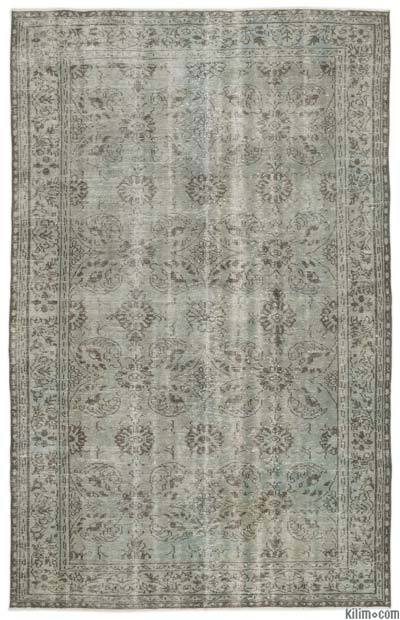 "Over-dyed Turkish Vintage Rug - 6' 2"" x 9' 11"" (74 in. x 119 in.)"